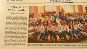 Die Neckarvielharmonie der Grundschule Ziegelhausen in der RNZ
